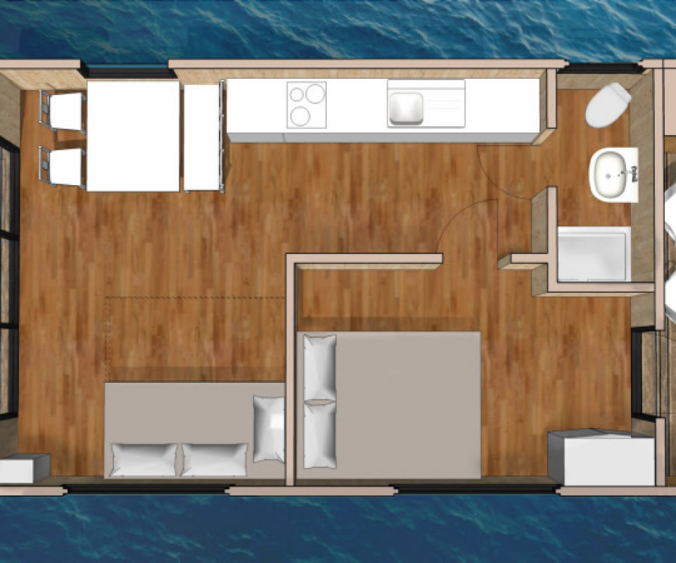 Slider Hausboot Grundriss